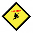 Snowboarding sign - Stock Photo