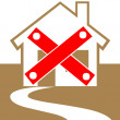 Condemned home icon - Stock Photo