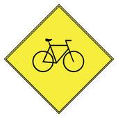 Segno di bicicletta — Foto Stock