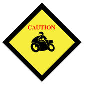 Motorcycle sign — Stock Photo