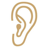 Ear icon — Stock Photo