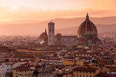 Florence skyline at sunset — Stock Photo