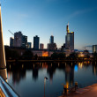 Frankfurt business district — Stock Photo