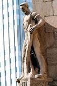 Frankfurt Statue — Stock Photo
