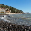 Italian beach, Imperia, Italy — Stock Photo
