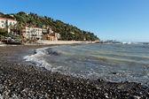 Italian beach, Imperia, Italy — Stock Photo