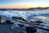 Italian sunset Imperia, Italy — Stock Photo