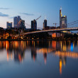 Frankfurt business district - Stock Photo
