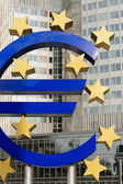 Euro Symbol, Frankfurt — Stock Photo