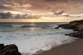 Dramatic sunset in Newquay — Stock Photo