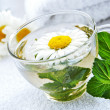 Royalty-Free Stock Photo: Cup of warm camomile-mint tea