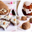Homemade chocolate desserts - Stock Photo