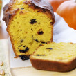 Royalty-Free Stock Photo: Delicious pumpkin bread with raisins
