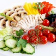 Fresh ingredients for healthy chicken sa — Stock Photo #1031100