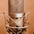 Royalty-Free Stock Photo: Microphone in a sound enclosure booth