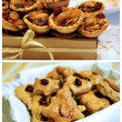 Homemade Christmas and NewYear pastry gi — Stock Photo