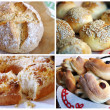 Homemade golden pastry collage — Stock Photo #1031760