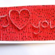 Royalty-Free Stock Photo: Handmade greeting card - I love you