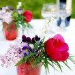 Stock Photo: Bunch of summer flowers for picnic