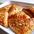 Puff-pastry pasties filled in fresh sorr - Stock Photo