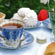 Stock Photo: Summer afternoon tea-table
