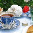Summer afternoon tea-table - Stock Photo