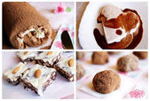 Homemade chocolate desserts — Stock Photo