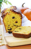 Delicious pumpkin bread with raisins — Foto Stock