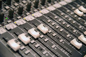 Sound-recording control desk — Stock Photo