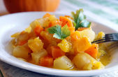 Steam autumn vegetables ragout — Stock Photo