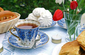 Summer afternoon tea-tabell — Stockfoto