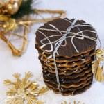 Christmas homemade chocolate cookies — Stock Photo