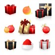 图库矢量图片: Holiday icon collection