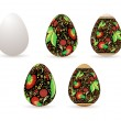 Easter decor eggs - Image vectorielle