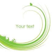 Fundo floral verde — Vetorial Stock