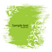 зеленый цветочный фон — Cтоковый вектор