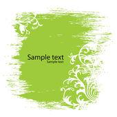 Green floral background — Stockvektor