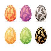 Easter decor eggs — Stock Vector