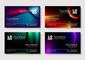 多色のビジネス カード — ストックベクタ