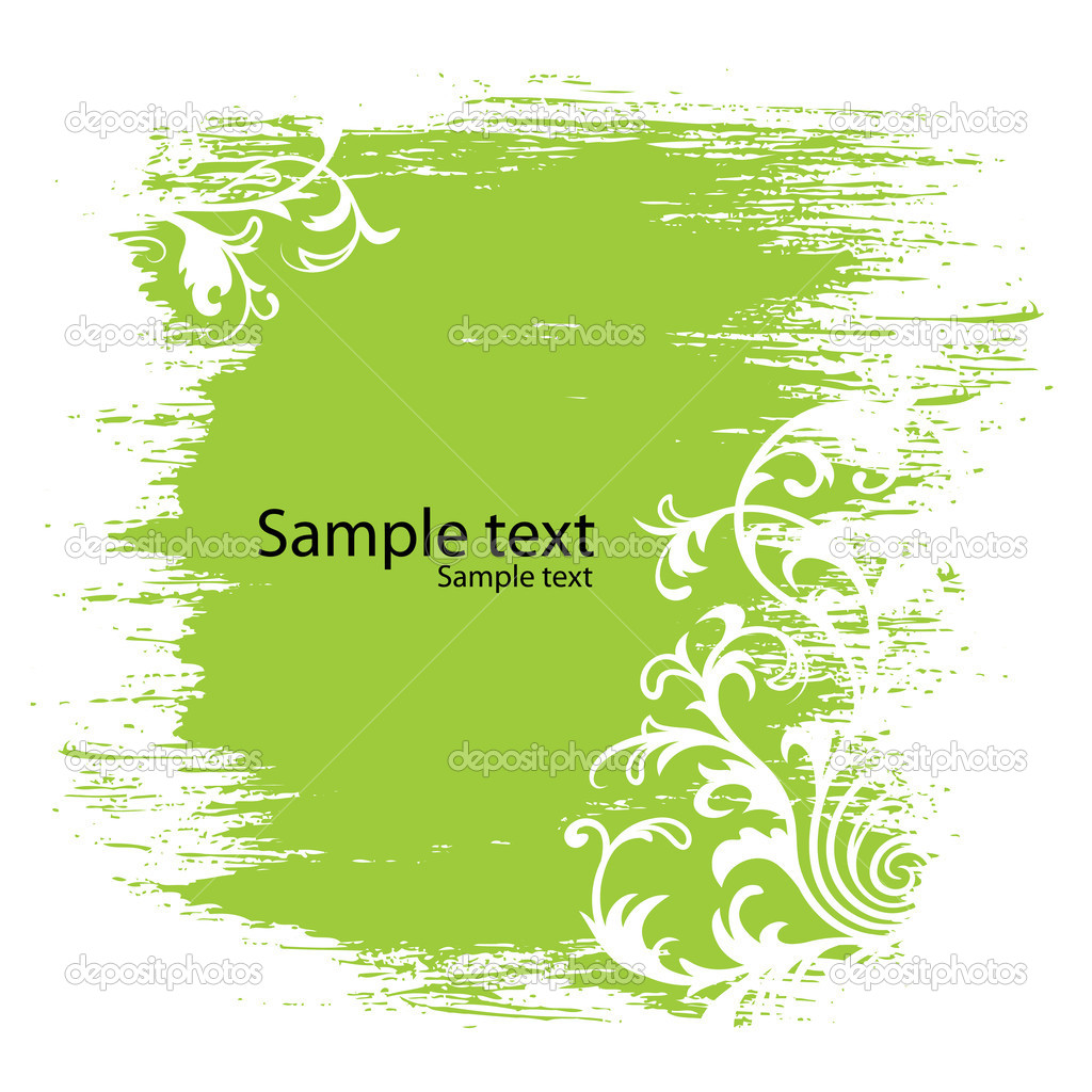 Green floral background — Stock Vector #1026845