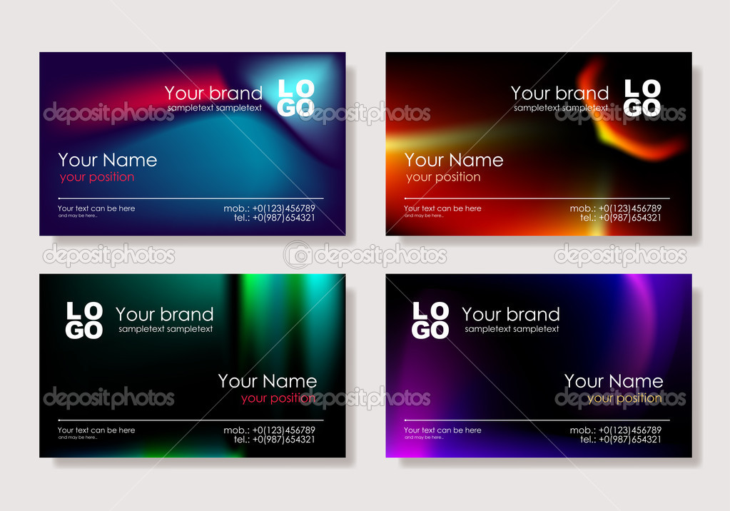 Biz card set — Stock Vector #1028552