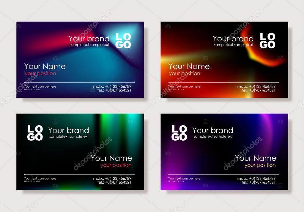 Multicolor business card — Stock Vector © arthey