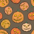 Halloween Seamless Background - Imagen vectorial
