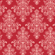 Stock vektor: Seamless Red Classicism Wallpape