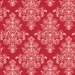 Seamless Red Classicism Wallpape — Grafika wektorowa