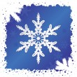 Stock vektor: Snowflake Background