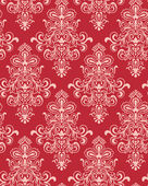 Seamless Red Classicism Wallpape — Stock vektor