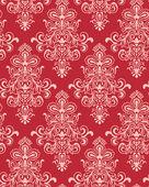 Sömlös röda klassicism wallpape — Stockvektor