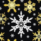 Seamless Ornament with Snowflake — Cтоковый вектор