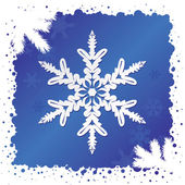 Sneeuwvlok achtergrond — Stockvector